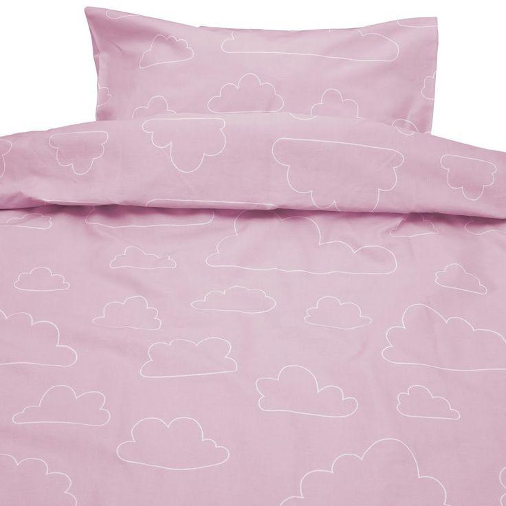 Moln Eco Cotton Cloud Pink Children Bed Set 130cm x100cm
