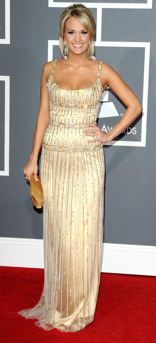 Carrie Underwoodarrives atthe 51st Annual Grammy Awards, heldat the Staples Center in Los Angeles on Feb. 8, 2009.