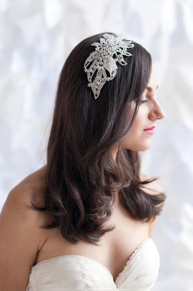 Rhinestone headpiece - Merle   Veils Accessories Intimates   Tessa Kim OMG need this for my wedding