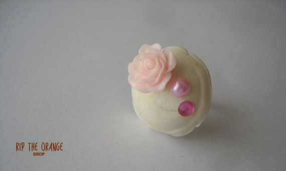 Bonbon White Choco Ring by riptheorangeshop on Etsy