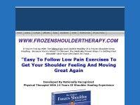 Proven treatment for frozen shoulders, shoulder pain & stiffness...