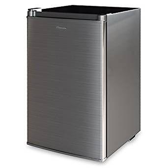 Inventor A++ 82L Kompakter Luxus Mini-Kühlschrank Inox Silber