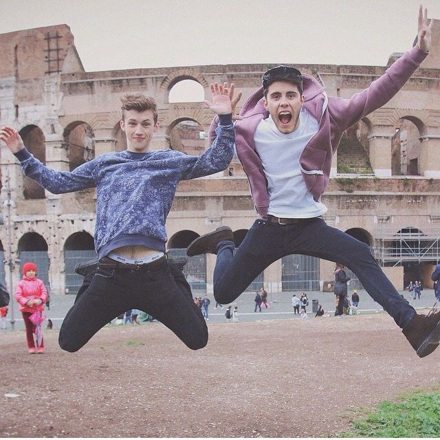 proud of you guys for being able to jump and get a picture at the same time without looking crazy