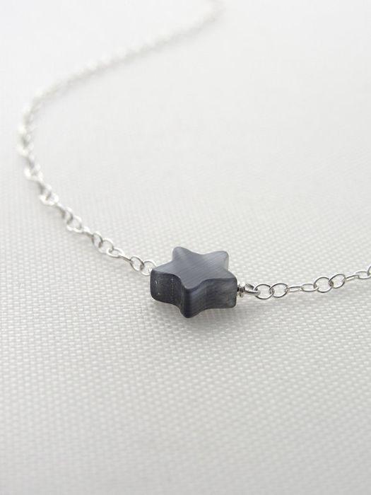 Tiny Jade Star Necklace★