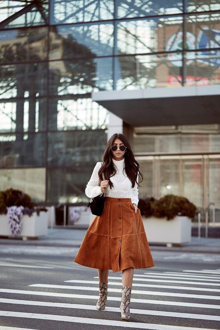 new york fashion week philiip lim ss17 coach show recap backstage karen miller suede skirt white blouse python booties gucci velvet marmont bag not your standard blogger kayla seah