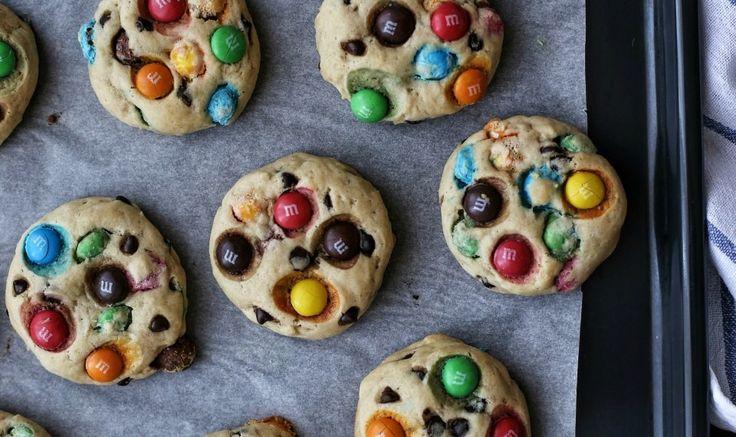 Рецепт - Печенье с M&M's и шоколадной крошкой