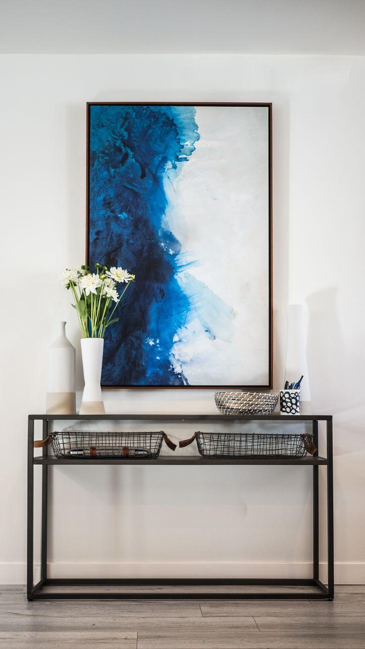 Metropolitan Rowhome - Kathy Ann Abell Interiors | San Diego | Interior Designer | Navy Blue | Midcentury Modern | Catch All | Phone Charging Station