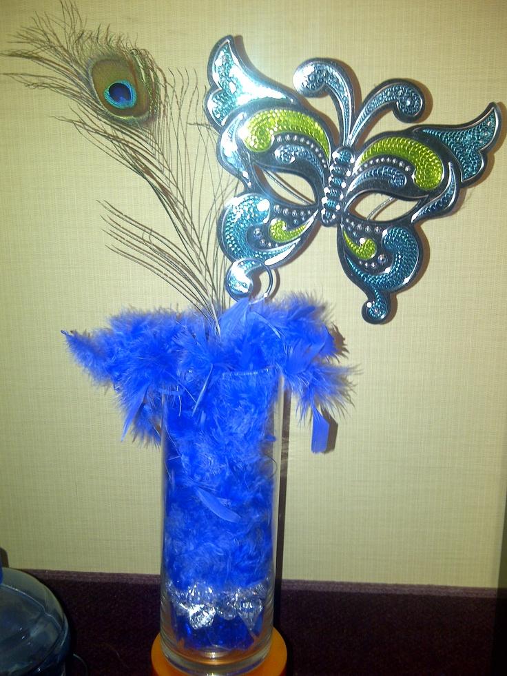 Masquerade centerpiece idea very easy to make