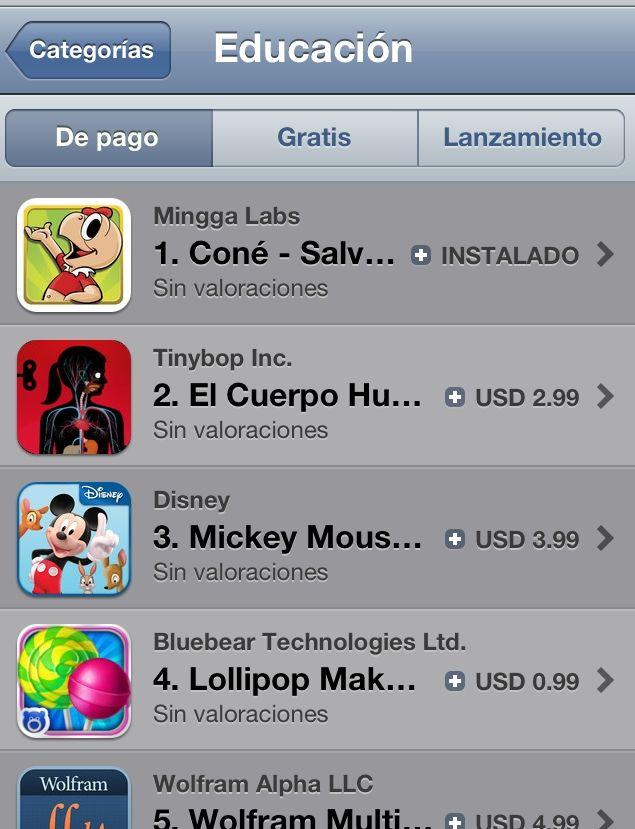 ¡Reflauta! la App de Coné está nº 1 en categoría educación en el appstore.