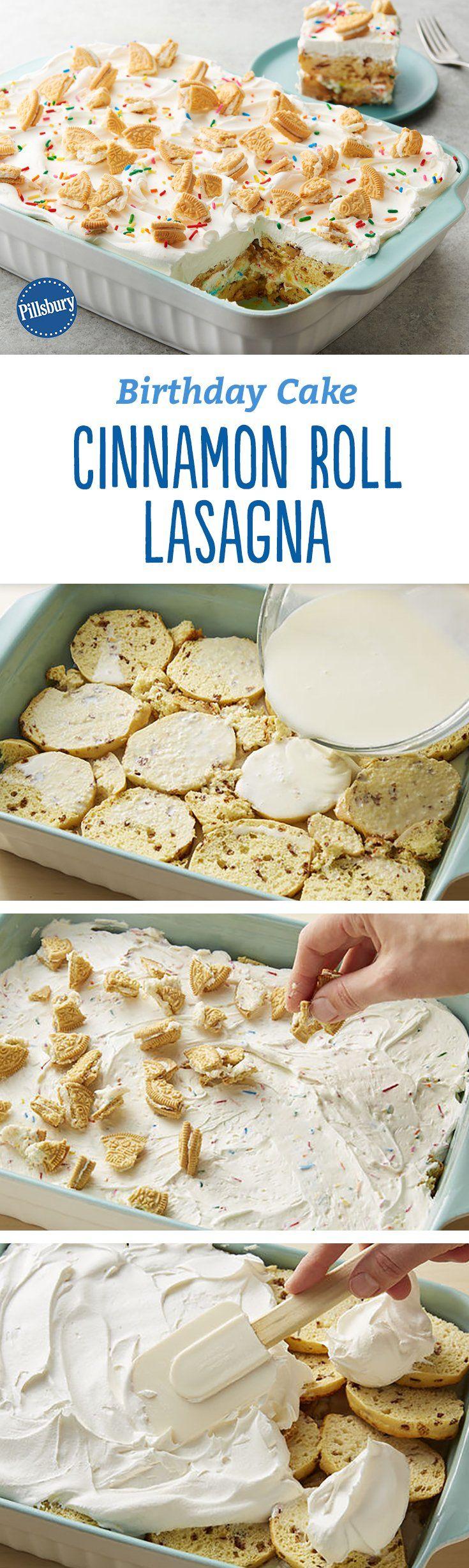 Dieses Dessert aus Zimtschnecken ist für süße Feste gemacht! Es ist schon etwas Besonderes …   – Party Recipes