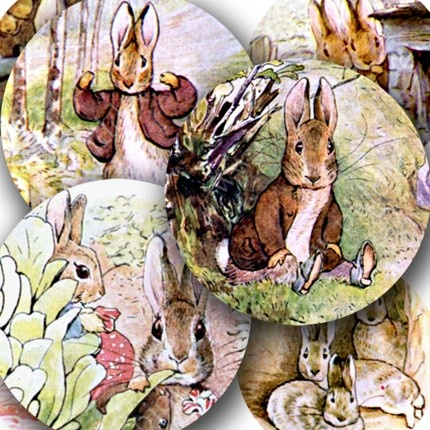 Bunnies! Scanned from first-edition copies of Beatrix Potter's Peter Rabbit series, by piddix.Piddix, Easter, Peter O'Tool, Potter Peter, Rabbit Bunnies, Peter Rabbit, Benjamin Bunnies, Rabbit Series, Paper Crafts