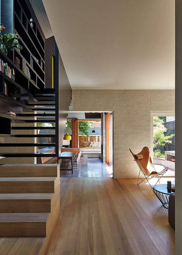 Love the dual steps. avoids having the lost space under the lower stairs