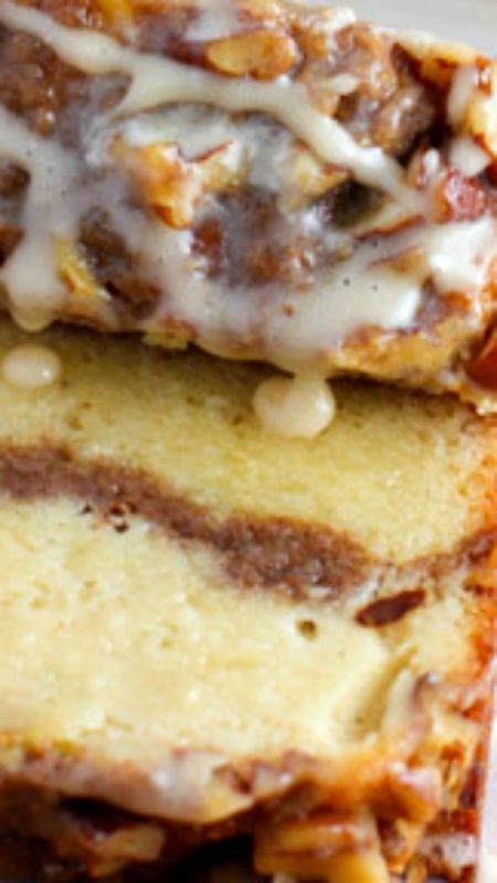 Ultimate Sour Cream Coffee Cake ~ This recipe doubles perfectly... If you want 2 loaves or a 9 x 13 size cake pan – just double the ingredients and it will work fine.