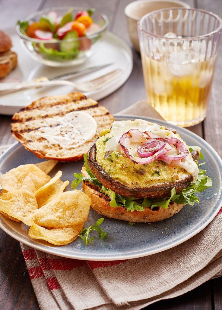 Egg-Stuffed Portobello Mushroom Burgers – Uteki Recipes, Food, & Cooking