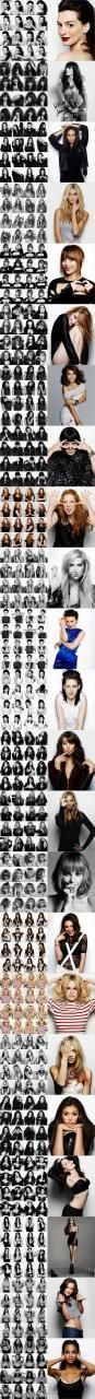 Various celebrity portraits consisting of various poses - teach you to pose like a professional...x