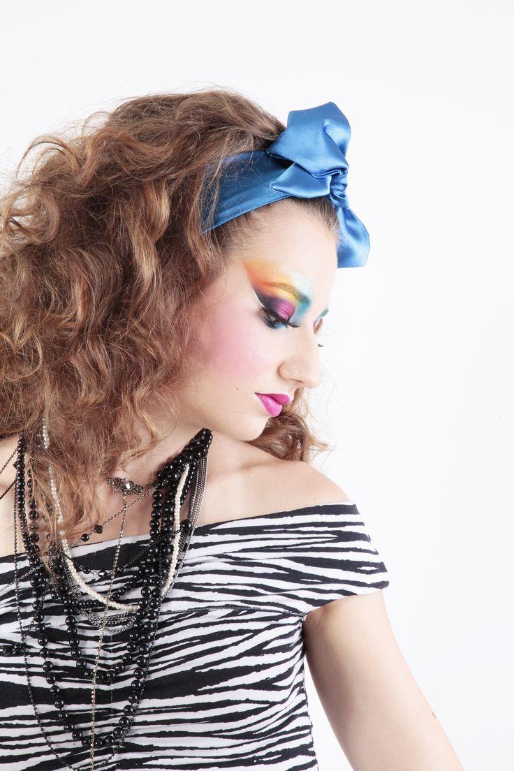 Colours, colours, colours – 80's Style -  Photo: Diána Rigó - Makeup, stylist: Viktória Bodó - Hair: Krisztina Bulzán-Koncz - Model: Zsófi Kormos - Makeup Beauty Forum Hungarian Cup 2015 - Topic: Colours, colours, colours - 80's Style - #80s_style #Makeup #Hair #Beauty_Forum_Hungary #beauty