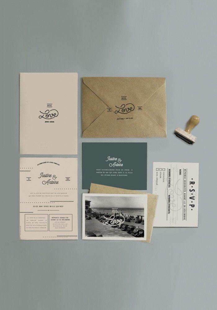 Collection Big love, une collection douce et moderne pour un mariage à la pointe de la tendance : www.papierandco.com