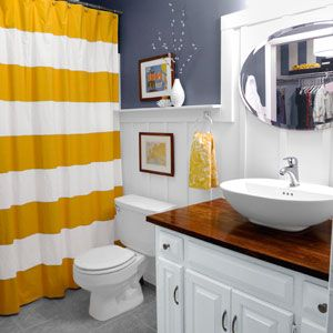 Budget bath remodel. This is what we've been planning to do to our powder room for several months now!