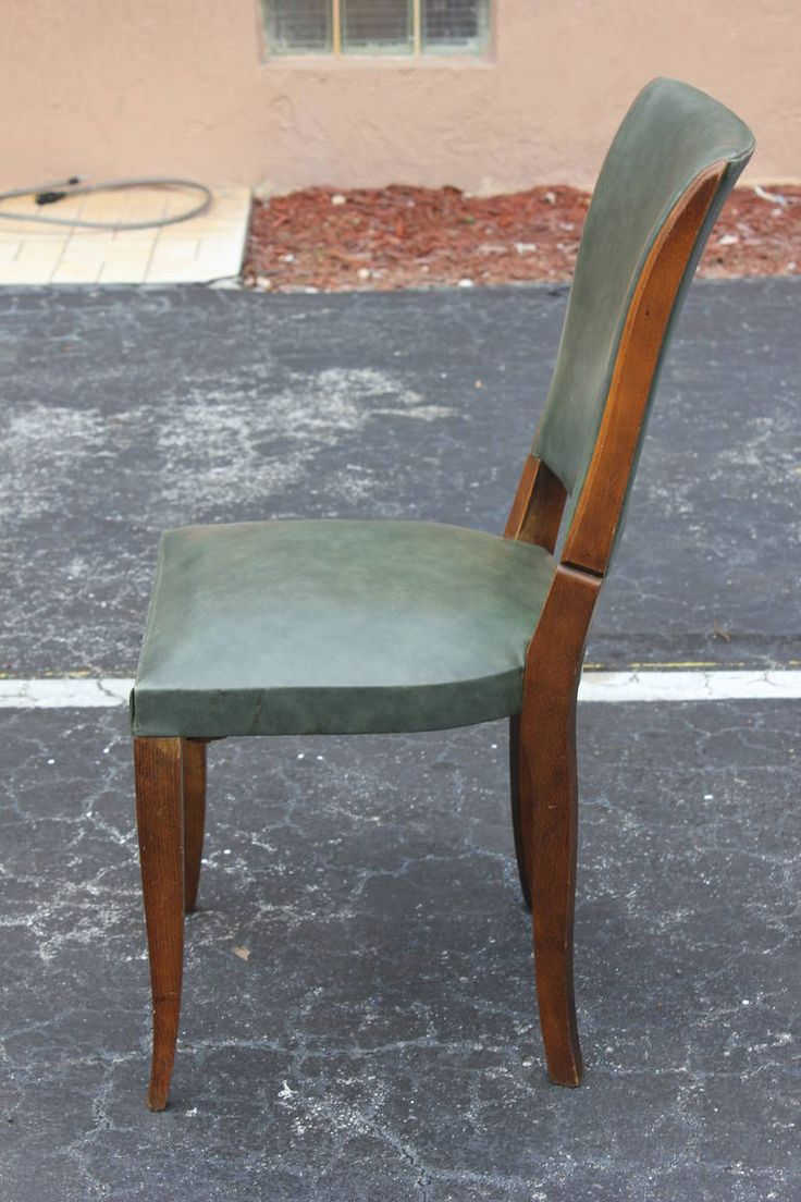 Custom modern chippendale wing chair by ethan allen at 1stdibs - S 8 French Art Deco Walnut Dining Chairs Classic Style