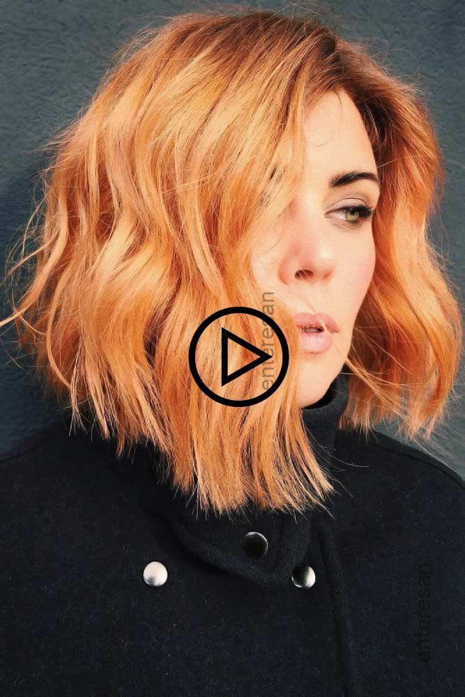 Aprikose Orange Orangehaar Rothaar Suchen Sie Nach Orangehaar Farbe Ideen Bright Orange Ombre Haar Styling Langhaar Bob Styling Kurzes Haar