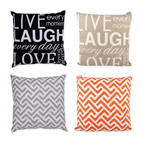 Two Sided 'Live Laugh Love' Cushion | Kmart