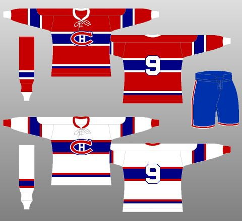 Montreal Canadiens 1944-47 - The (unofficial) NHL Uniform Database