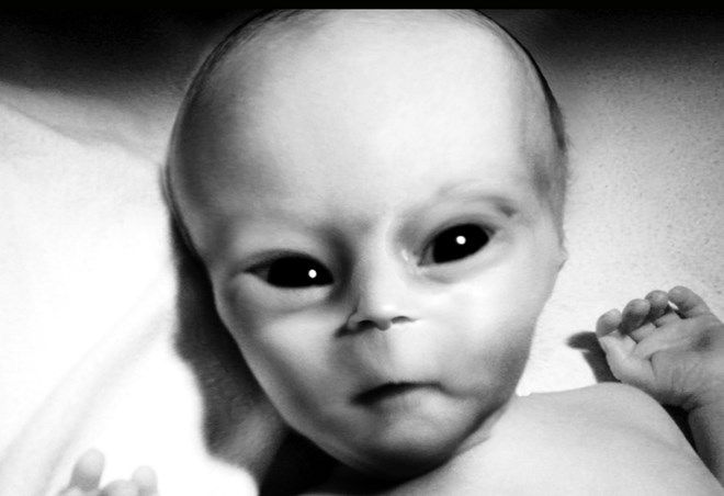 Földönkívüli gyermekek  what is the case, mixing  dna with humen versus Greyones.Strange looking baby face, only a dna testing makes the truth.... The truth is out there, are not?