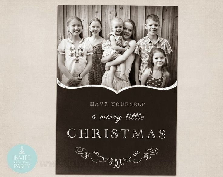 Photo Christmas Cards Invite Me To Party: Photo Christmas Cards