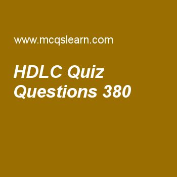 Learn quiz on hdlc, computer networks quiz 380 to practice. Free networking MCQs questions and answers to learn hdlc MCQs with answers. Practice MCQs to test knowledge on hdlc, composite signals, networking basics, delivery, forwarding, and routing, frame relay and atm worksheets.  Free hdlc worksheet has multiple choice quiz questions as in control field of v frame, code 00 000 is used for command of, answer key with choices as reset, frame reject, unnumbered information and unnumbered...