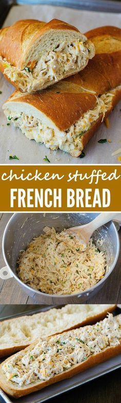 Chicken Stuffed French Bread: