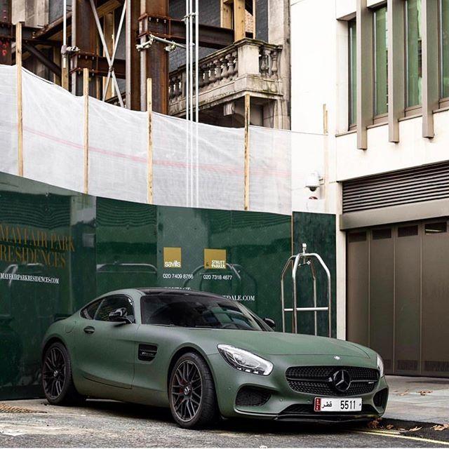 #SupercarsofLondon by @bd.automotive #green #mercedes #amg #gts #supercar #london #merc #sportscar
