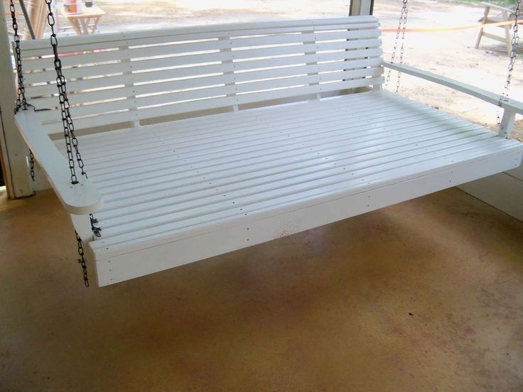 White Porch Swings Design ~ http://www.lookmyhomes.com/enjoy-the-warmth-of-the-family-along-with-porch-swings/