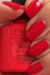CND Shellac layering Wildfire over Tropix. by Cherriesweet, via Flickr