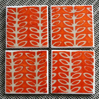 Artisan Rainbow: Scandinavian Patterned Coasters by Shooting Nelly