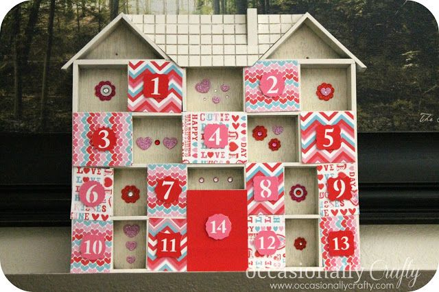 Valentine's Day Countdown #ValentinesDay - Such a cute advent idea for the kids!