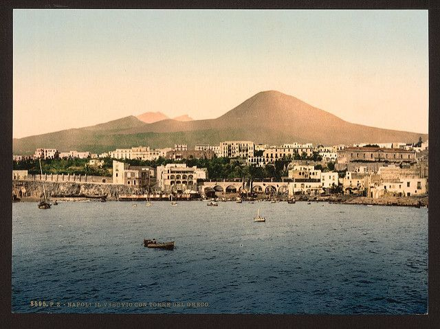 [Mount Vesuvius, with Torre de Creco (i.e. Greco), Naples,… | Flickr