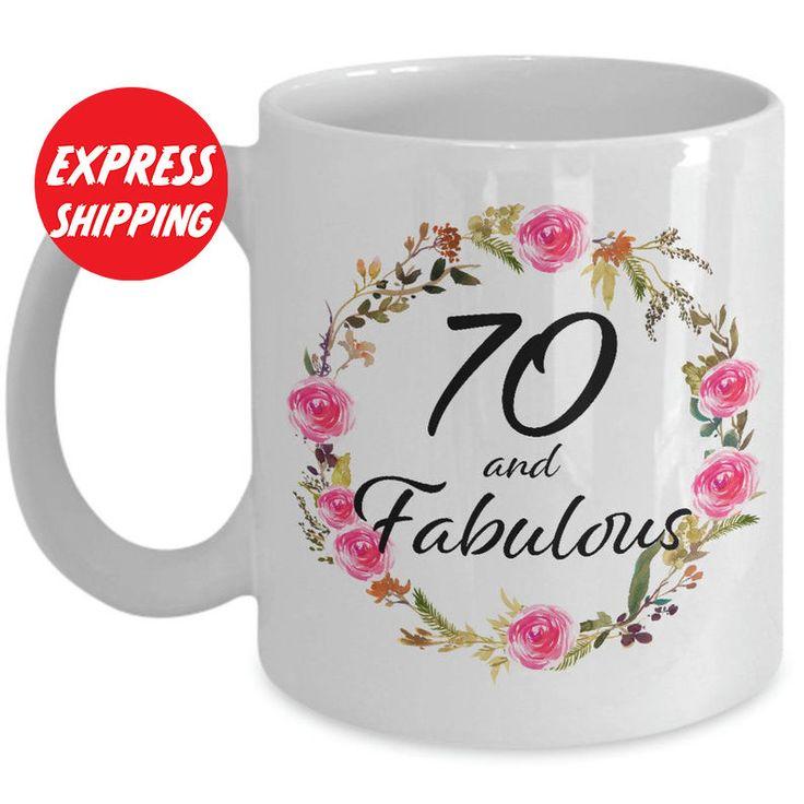 70 and fabulous coffee cup 70th birthday mug christmas