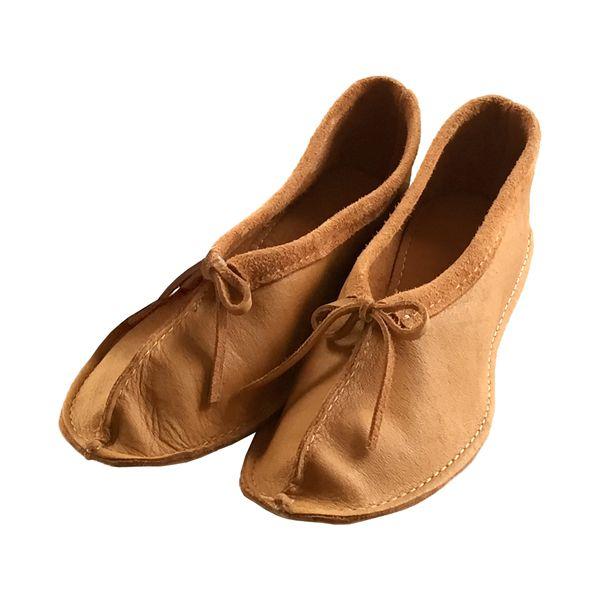 Women's Moosehide Ballerina Slippers B6116