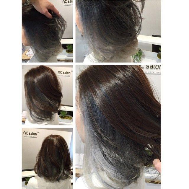 Image result for short hair balayage asian
