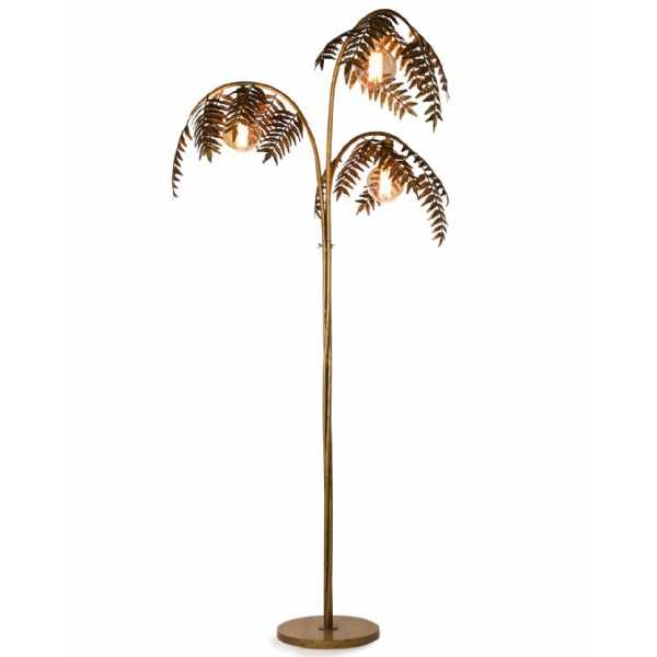 Art Deco Retro Tall Large Antique Gold Palm Tree Leaf Metal