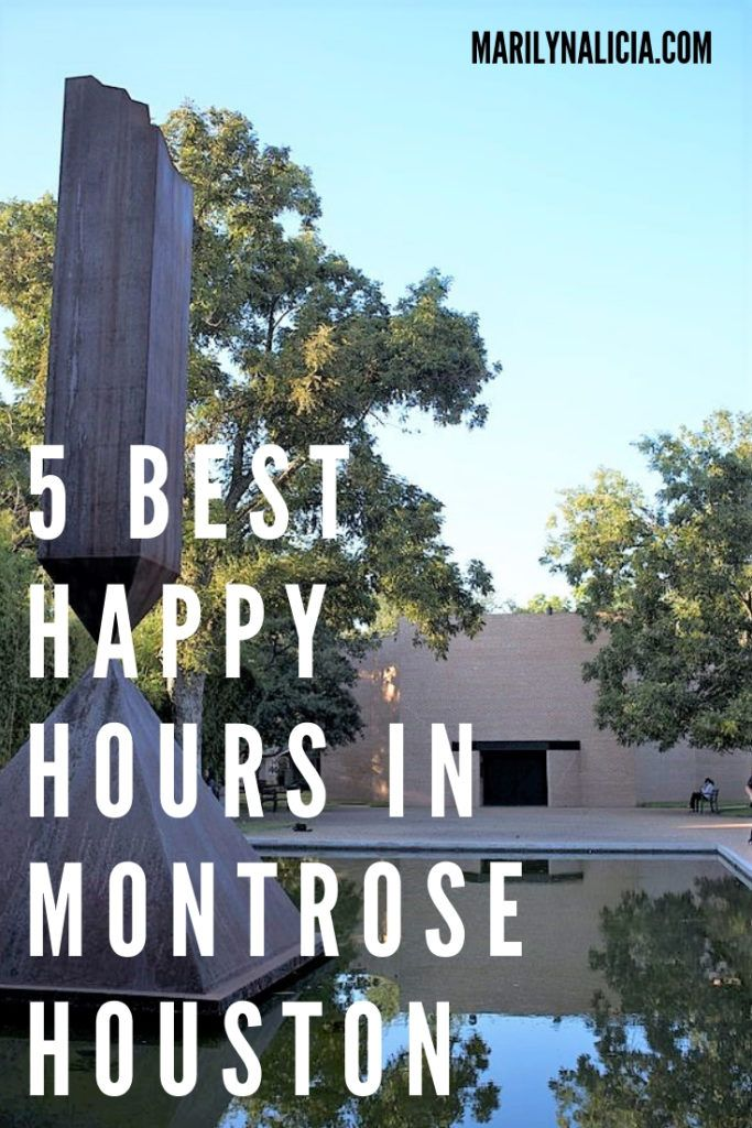 The 5 Best Happy Hours In Montrose Houston Marilyn Alicia Montrose Houston Best Happy Hour Happy Hour Deals