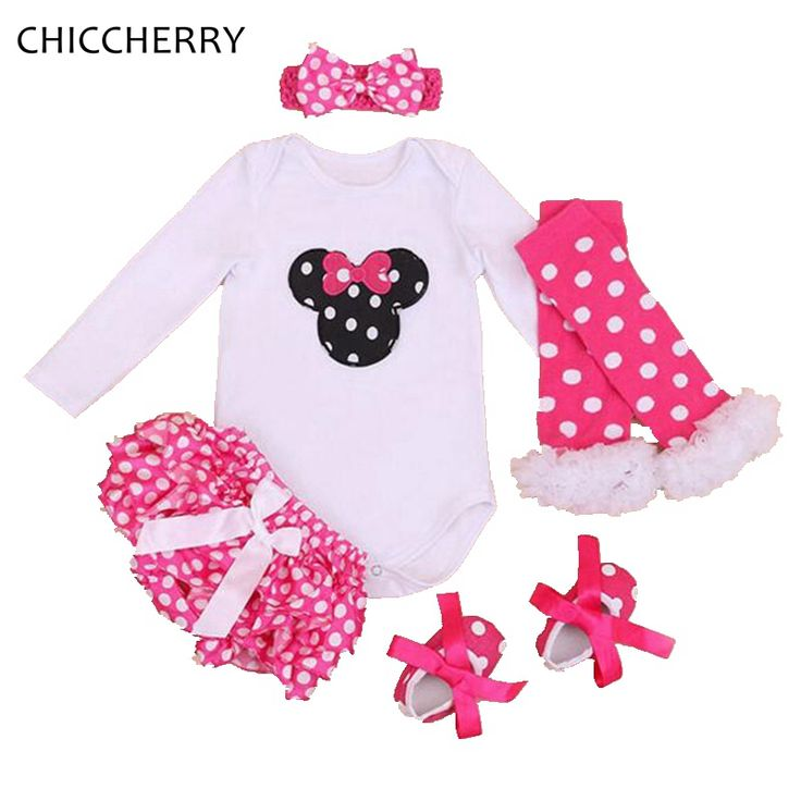 >> Click to Buy << Pink Winter Infant Baby Girl Clothes Minnie Newborn Bodysuit + Dots Bloomer Set Overall for Kids Vetement Bebe Toddler Jumpsuit #Affiliate