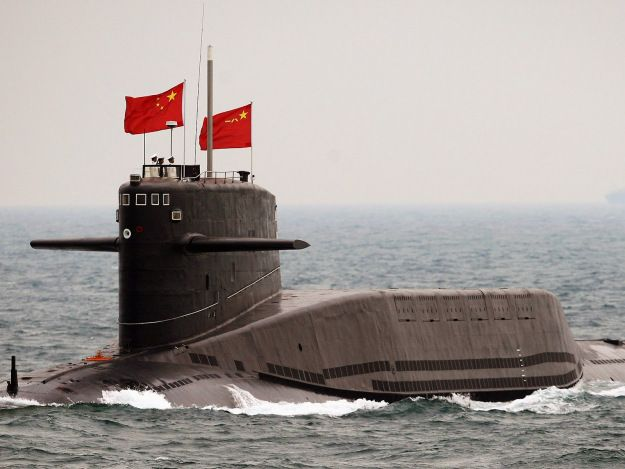 An undated photo of Chinese Jin-class Type 94 nuclear ballistic missile submarine .China is set to deploy submarines sometime this year armed with nuclear tipped missiles capable of striking Alaska or Hawaii,according to Jan assessment from Office of Naval Intelligence.People's Liberation Army Navy Jin-class nuclear ballistic missile submarine set to begin patrols in 20146armed with new Ju Lang 2 (JL2),ONI Senior Intelligence Officer Jesse Karotkin told US China Economic 1 Security