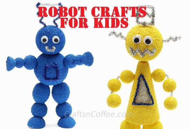Robot crafts for kids. This site has tons of fun ideas for crafting with kids and for group crafts, too.