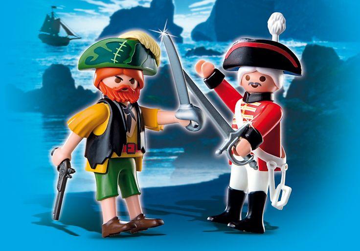 4127 - Playmobil Duo Pirate et soldat anglais - PLAYMOBIL® France