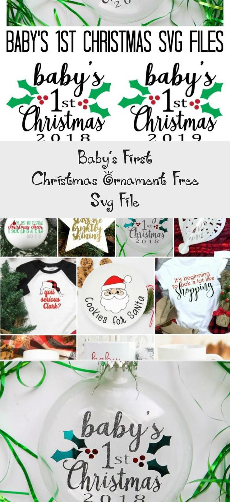 Baby's First Christmas Ornament Free Svg File, 2020