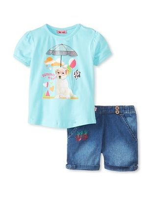 53% OFF Me Too Kid's Tee & Short Set (Blue)