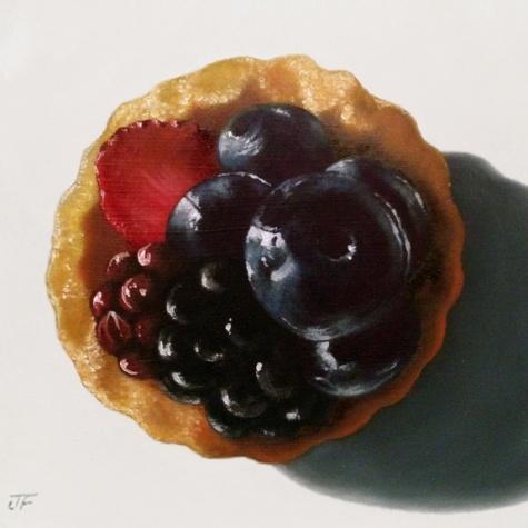 Fruit Tart Study I, painting by artist Jelaine Faunce