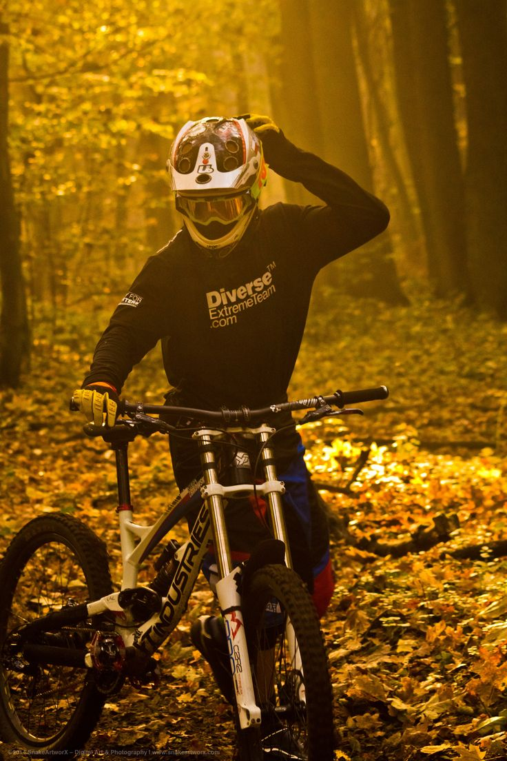"""It was a good ride"" ©2014 SnakeArtworX - Digital Art & Photography  Canon EOS 1100D + Sigma 70-300 F4-5.6 DG Macro  #photography #sports #lifestyle #downhill #mtb #mountainbike #forest #autumn #canon #sigma #ytindustries #marzocchi"