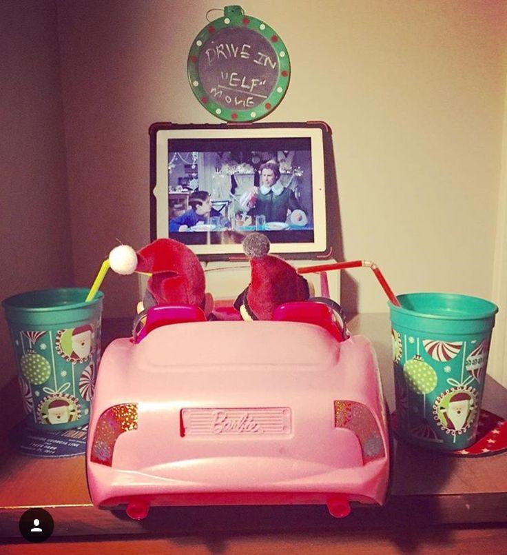 Elf on the Shelf - Drive in Movies using Barbie Car & iPad #gamecockshan #ElfOnTheShelf